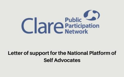 Letter from the Clare Public Participation Network